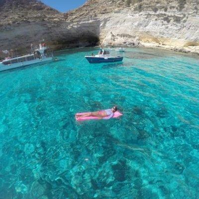 Passeio de barco em Lampedusa