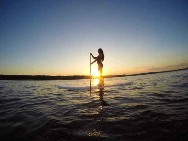 Sup pôr do sol rio negro Manaus
