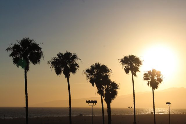 Pôr do sol em Santa Monica - California