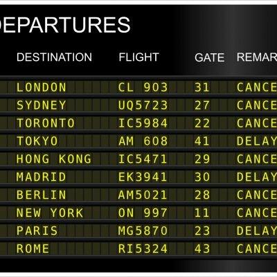 O que fazer em caso de atraso ou cancelamento de voo